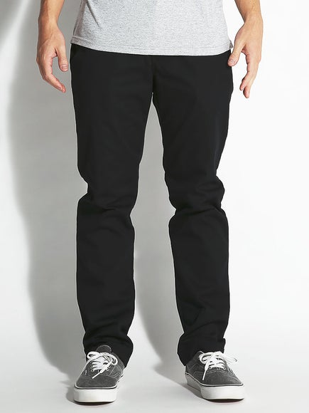 e2357ab31add0d Vans Authentic Chino Stretch Pants Black