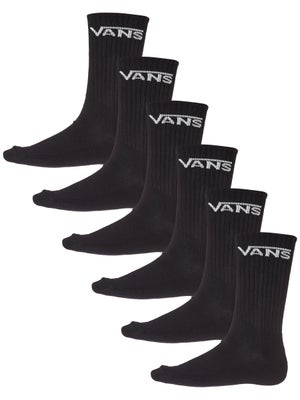 Vans Classic Crew Socks 3pk 10-13 Black
