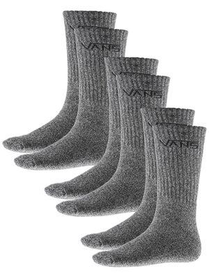 Vans Classic Crew Socks 3pk Black Heather 10-13