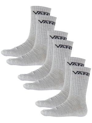Vans Classic Crew Socks 3pk White 9-11