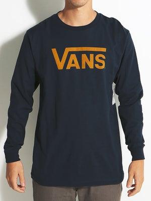 Vans Classic L/S Tee Navy/Yellow LG