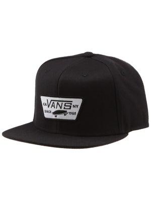 Vans Full Patch Snapback Hat Black Adjust
