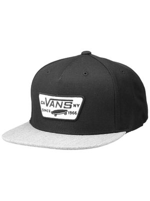 Vans Full Patch Snapback Hat Black/Heather Gry