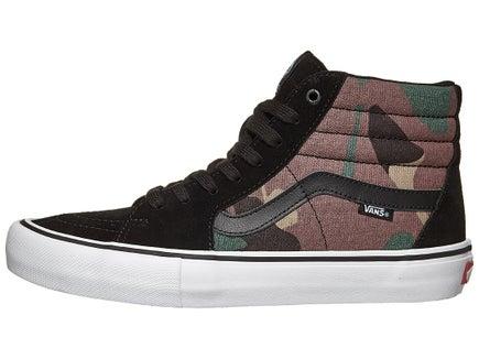b9ffd17af7 Vans Sk8-Hi Pro Shoes Camo Black White