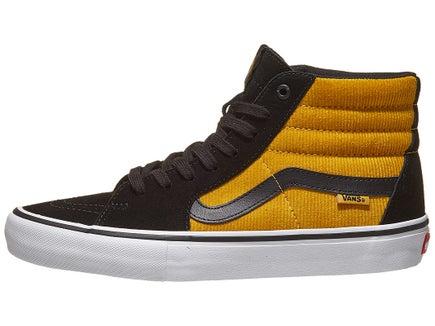 c581a1f3c85 Vans Sk8-Hi Pro Shoes Black Yellow Corduroy
