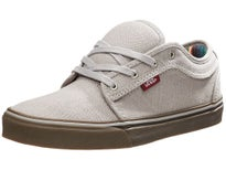 Vans Kids Chukka Low Shoes  Light Grey/Gum