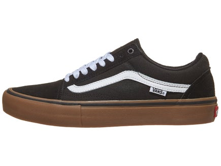 154d58edfcc Vans Old Skool Pro Shoes Black White Medium Gum