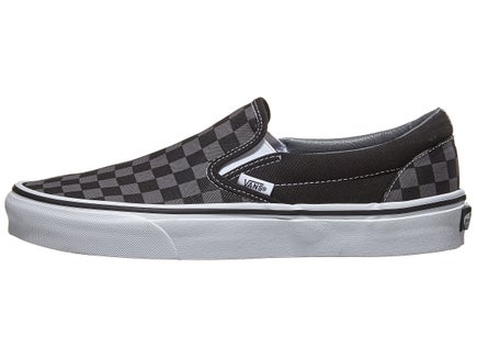 82b50a6e145412 Vans Classic Slip-On Shoes Black Pewter Checker