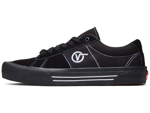 Vans Saddle Sid Pro Shoes Black/Black/White - Skate Warehouse