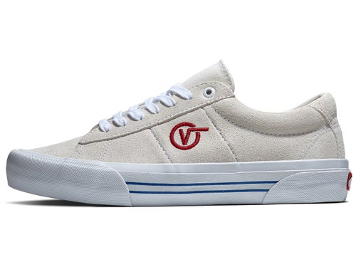 Vans Saddle Sid Pro Shoes Marshmallow/Racing Red - Skate