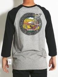 Volcom Bone Grab 3/4 Sleeve Raglan T-Shirt