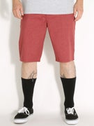 Volcom Frickin Modern Stretch Shorts  Burgundy Heather