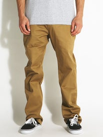 Volcom Frickin Modern Stretch Chino Pants Dark Khaki