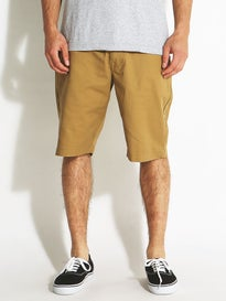 Volcom Frickin Modern Stretch Shorts Dark Khaki