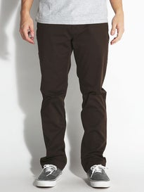 Volcom Frickin Modern Stretch Chino Pants Bark Brown
