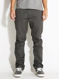 Volcom Frickin Modern Stretch Chino Pants Charcoal Hthr
