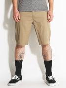 Volcom Frickin Modern Stretch Shorts  Khaki