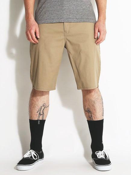 0537283f03c Volcom Frickin Modern Stretch Shorts Khaki