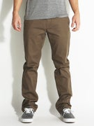 Volcom Frickin Modern Stretch Chino Pants Mushroom
