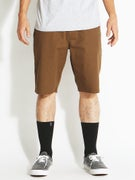 Volcom Frickin Modern Stretch Shorts  Brown