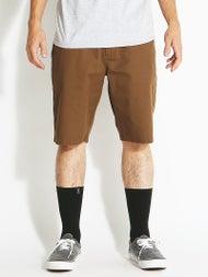 Volcom Frickin Modern Stretch Shorts  Brown