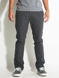 Volcom Frickin Slim Canvas Chino Pants  Charcoal