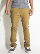 Volcom Frickin Slim Canvas Chino Pants  Dark Khaki