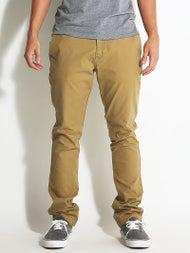 Volcom Frickin Slim Canvas Chino Pants  Dark Khaki