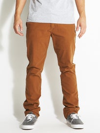 Volcom Frickin Slim Canvas Chino Pants  Mocha