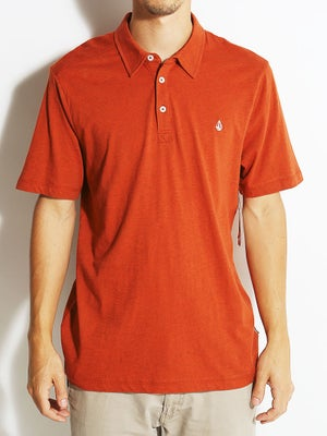 Volcom Wowzer Polo Shirt Auburn Heather/AUB MD