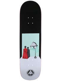 Welcome Haunted Horse White/Teal Deck  8.5 x 32.25