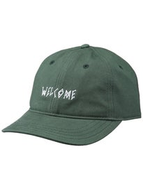Welcome Scrawl Slider Hat Adjust Green