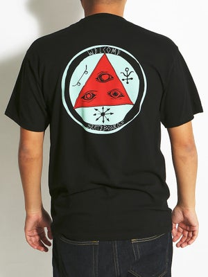 Welcome Talisman Tricolor Tee Black/Red/Teal SM