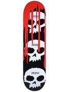 Zero 3 Skulls w/Blood Black Deck  7.875 x 31.4