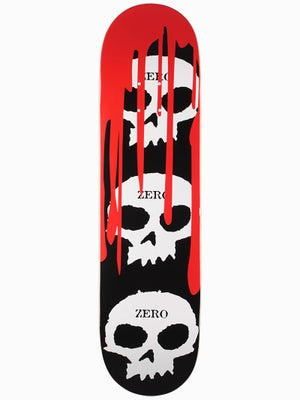 Zero 3 Skulls w/Blood Black Deck  8.125 x 31.7