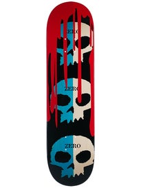 Zero 3 Skulls w/Blood Blue/Natural Deck  8.125 x 31.7