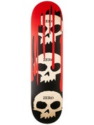 Zero 3 Skull w/Blood Blk/Red/Natural Deck  8.125 x 31.7