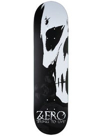 Zero Dying To Live Skull Deck  8.0 x 31.6