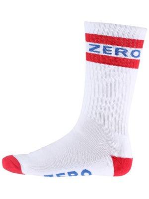 Zero Army Knee Hi Socks White/Red