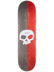 Zero Split Single Skull Red/Black Deck 8.125 x 31.7