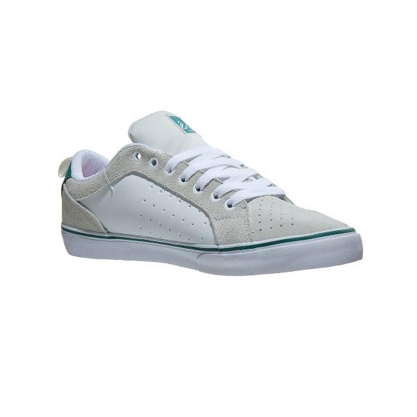 c6d84ceb7306 Es Aura Vulc Shoes White Green 360 View