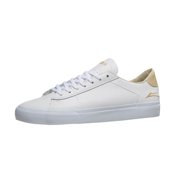 d1b07bea849 Lakai Newport X Theories Shoes White Sand Leather 360 View