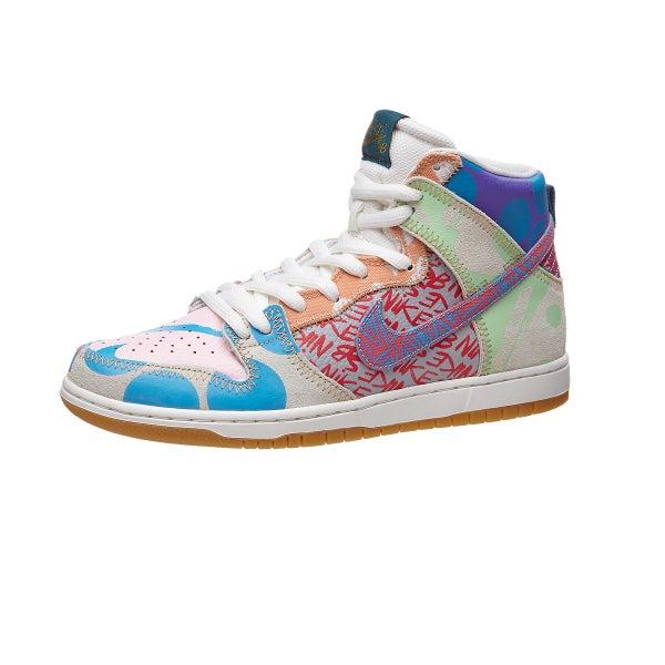 75b8c2120973 Nike SB Dunk High Premium Shoes Iced Jade Orange-Sail 360 View