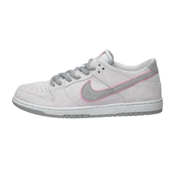 the best attitude f101e ac652 Nike SB Dunk Low Pro IW Shoes White Perfect Pink-Silver