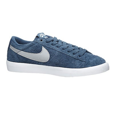 7372d1d0b24b Nike SB Blazer Low GT Shoes Squadron Blue Silver 360 View