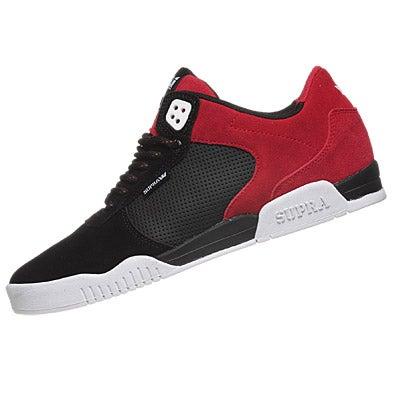 Supra ellington shoes black red white 360 view for Black red white boxspringbett
