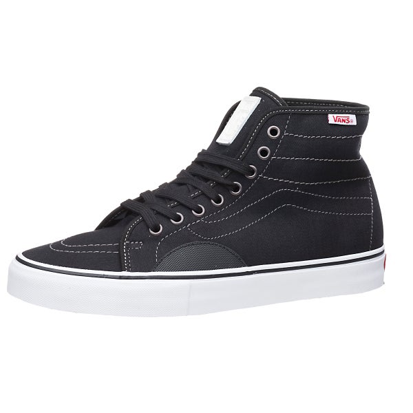 Vans AV Classic High Shoes Herringbone Black White 360 View 1c1d67a5e