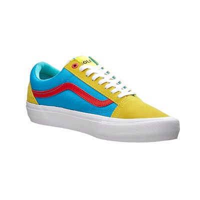 a6ad94a2d7cd43 Vans x Golf Wang Old Skool Pro Shoes Yellow Blue Red 360 View