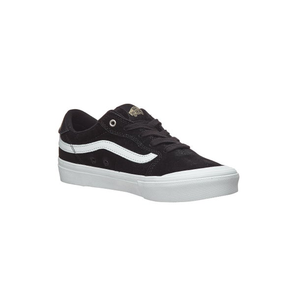 62a3b7f658 Vans Kids Style 112 Pro Shoes Black/Black/White 360 View