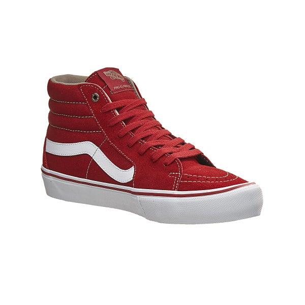 d980a4bfa47 Vans Sk8-Hi Pro Shoes Red Dahlia White 360 View